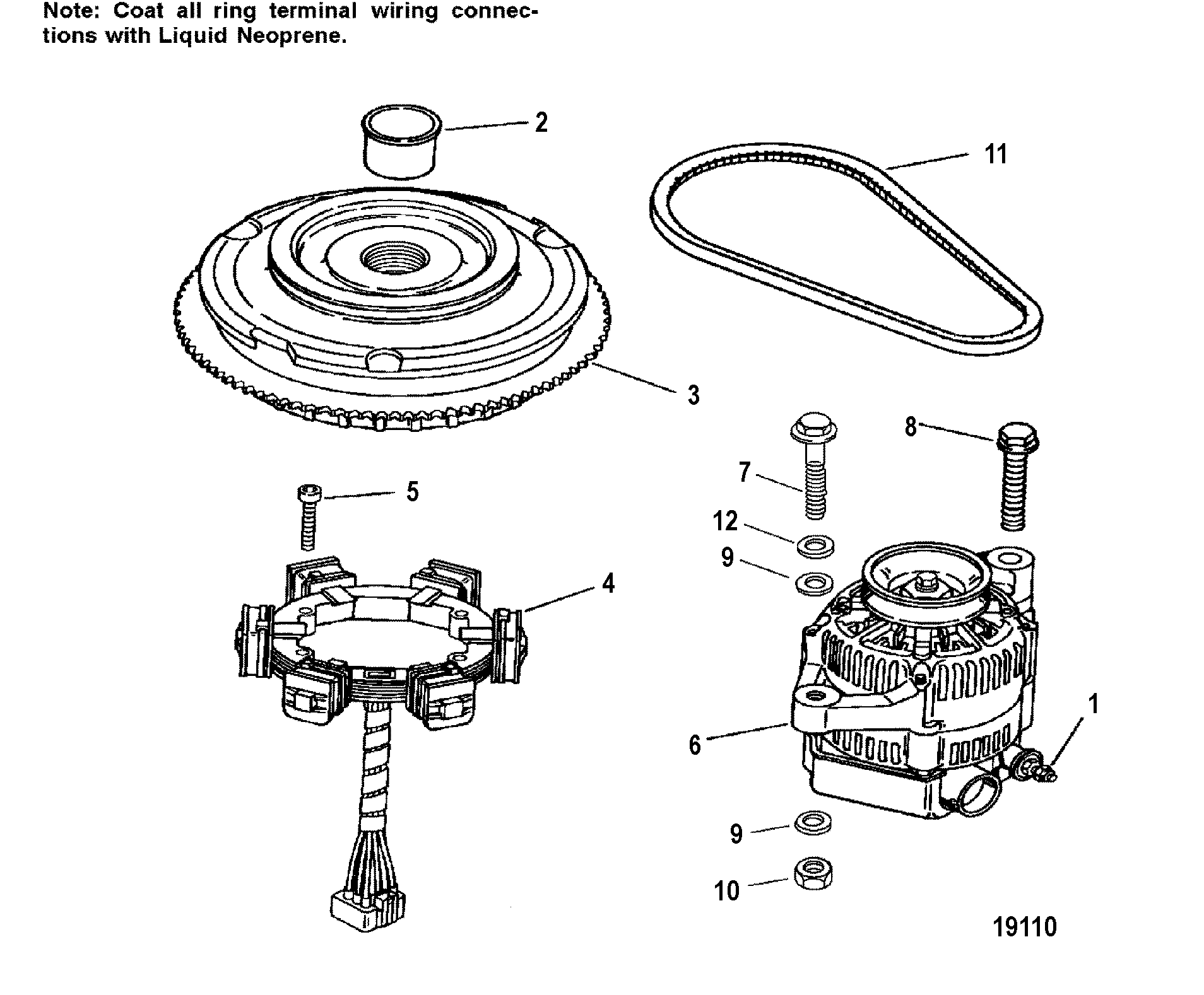Mercury Mercury 250 3 0l Efi 0g Thru 0t Flywheel Stator