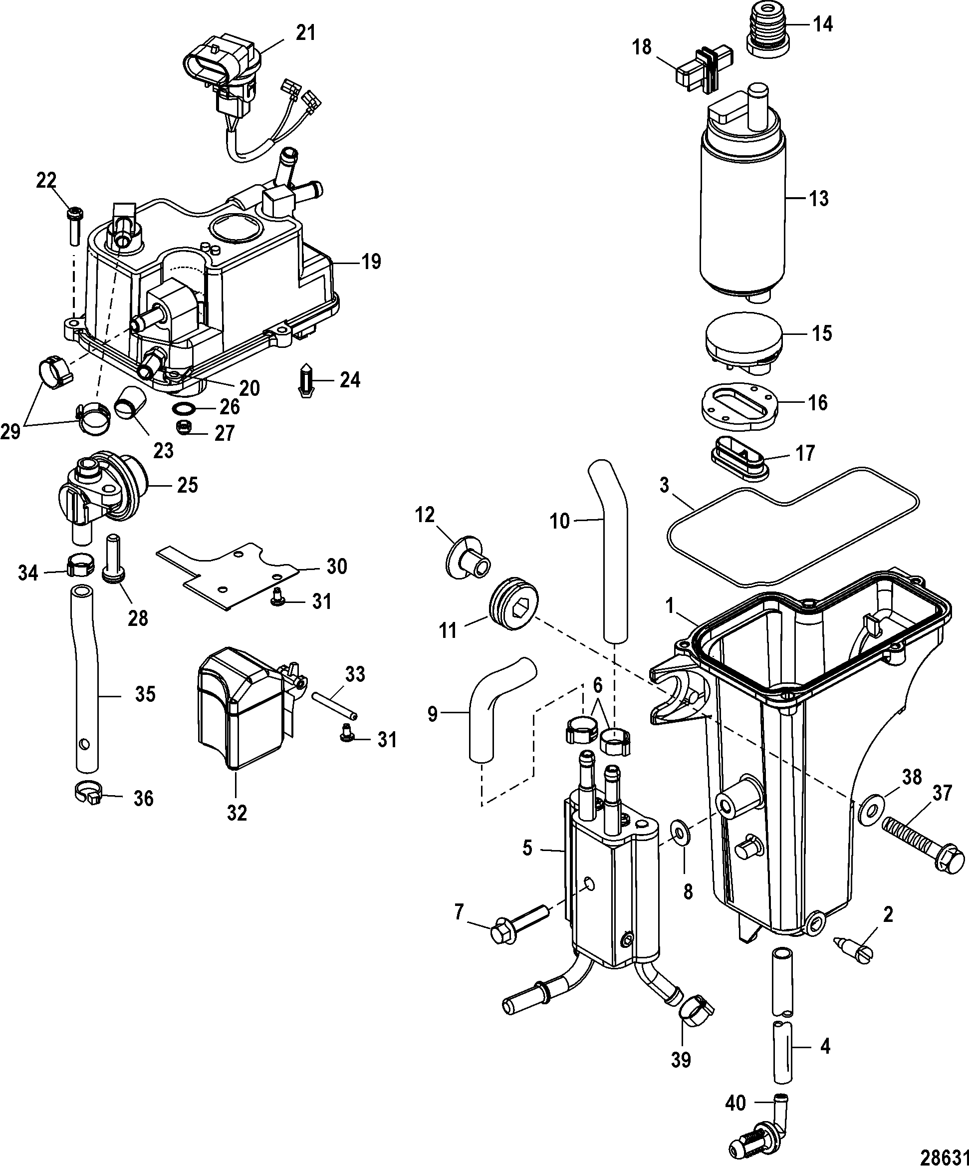 Mercury vapor separator