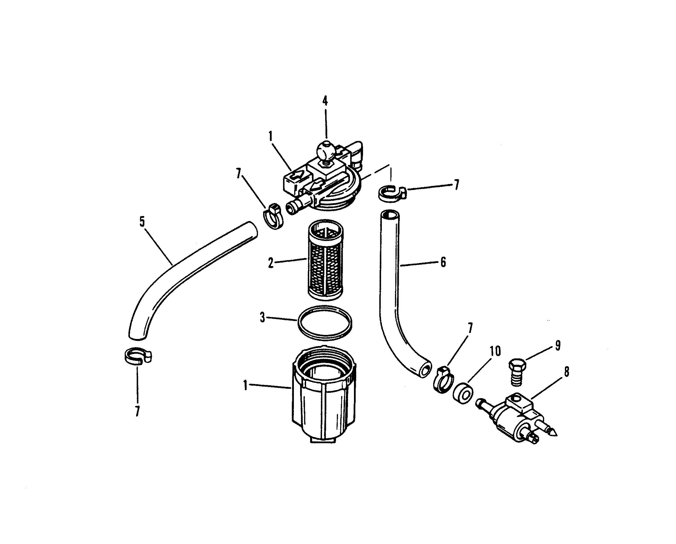 Mercury Mercury 6 0a Thru 0d Fuel Filter Assembly