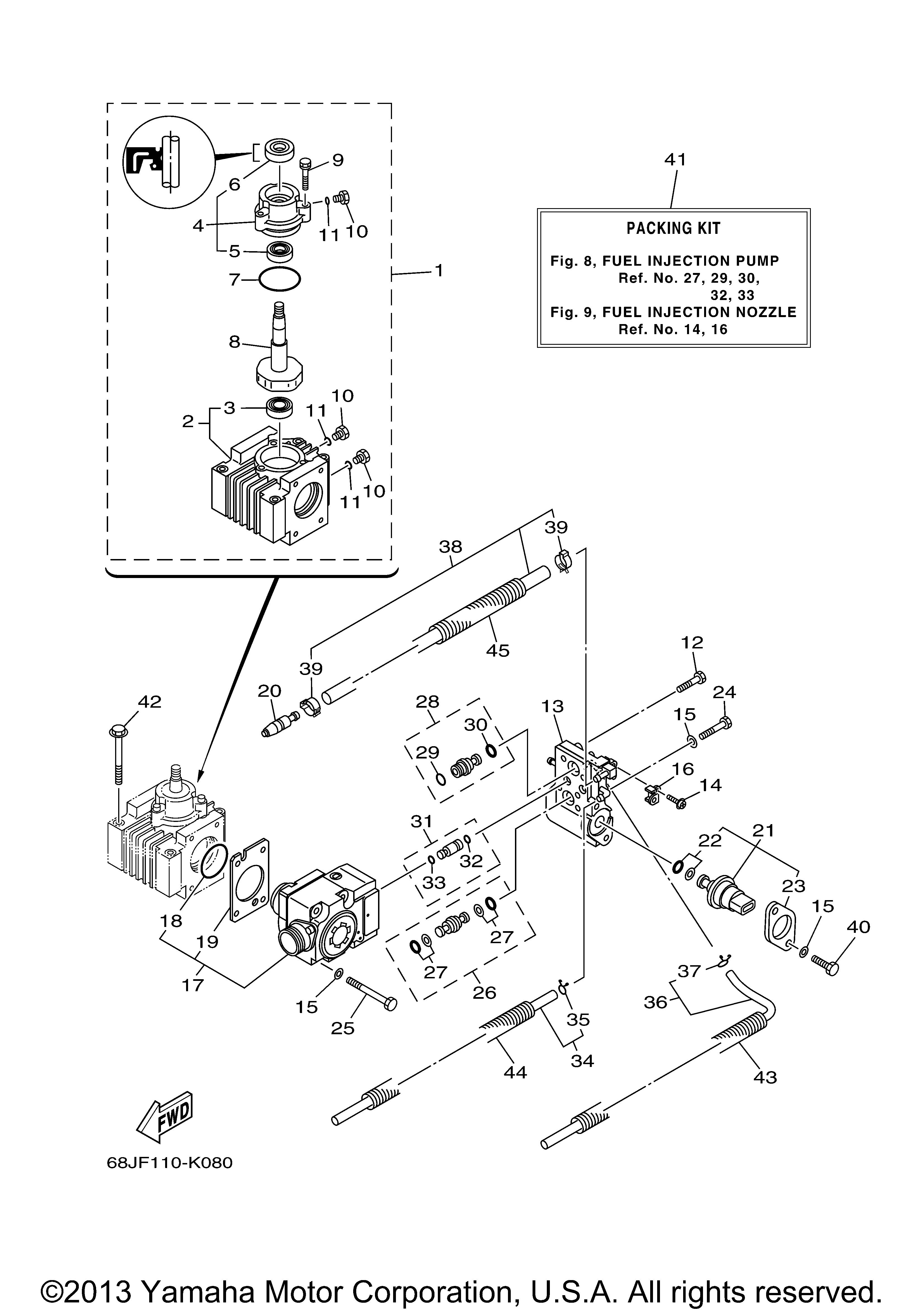 Yamaha Outboard Fuel Injection Pump
