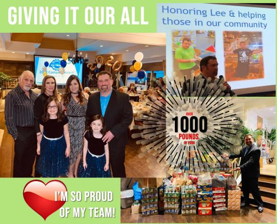 Vantagepoint Team donates 1000 lbs of food
