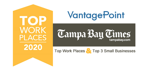 Vantagepoint selected as top 3 small business workplaces