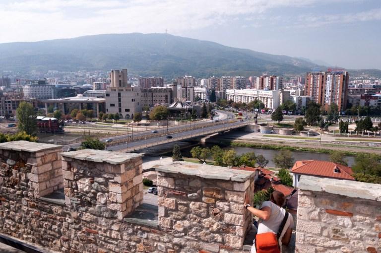 Výhled na Skopje