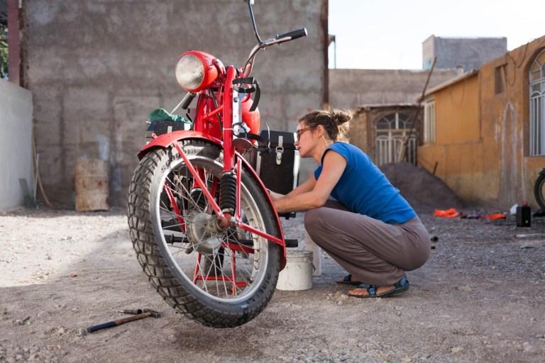 Mytí motorky