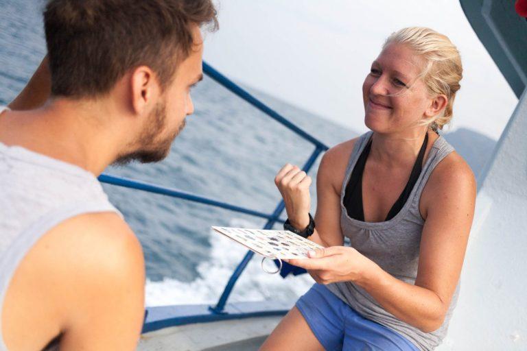 Liz bola Marekov potápačský dozor. Ukazovala nám, ktoré živočíchy môžeme vo vode vidieť.