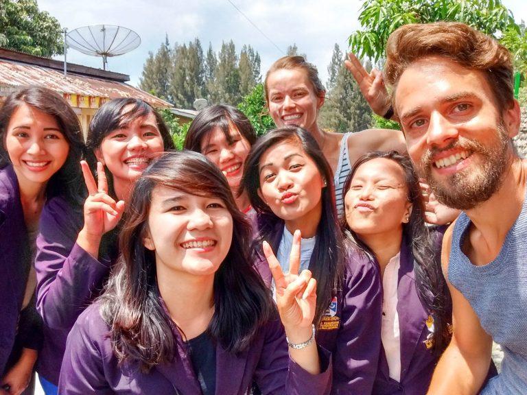 Selfíčko s holkama z Medanu