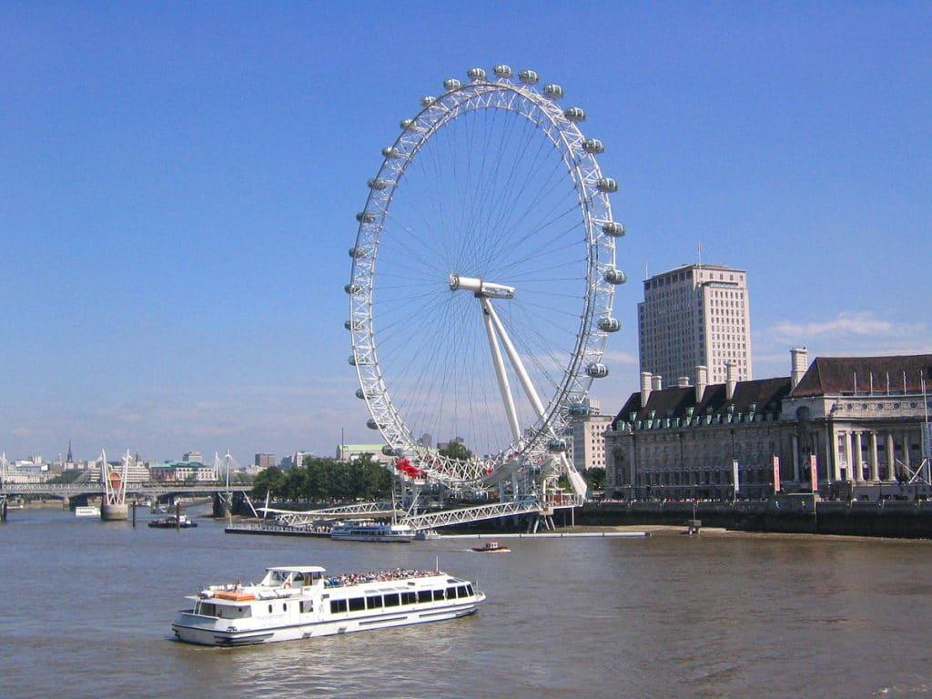 London Eye Grande Roue De Londres South Bank Vanupied
