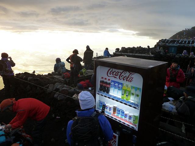 富士山 山峰 自動販賣機