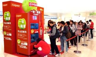 Vending Machine in Hong Kong - Colgate Green Apple Campaign
