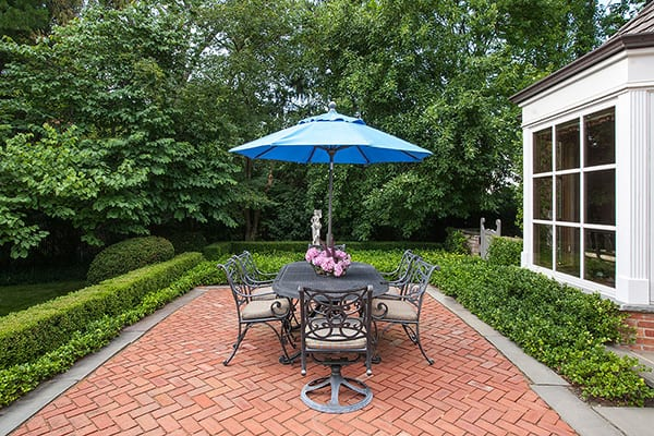 winnetka red brick paver patio and