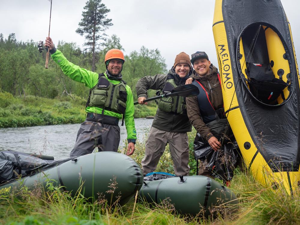 Kalastusvaellus packrafteilla Nuorttijoella