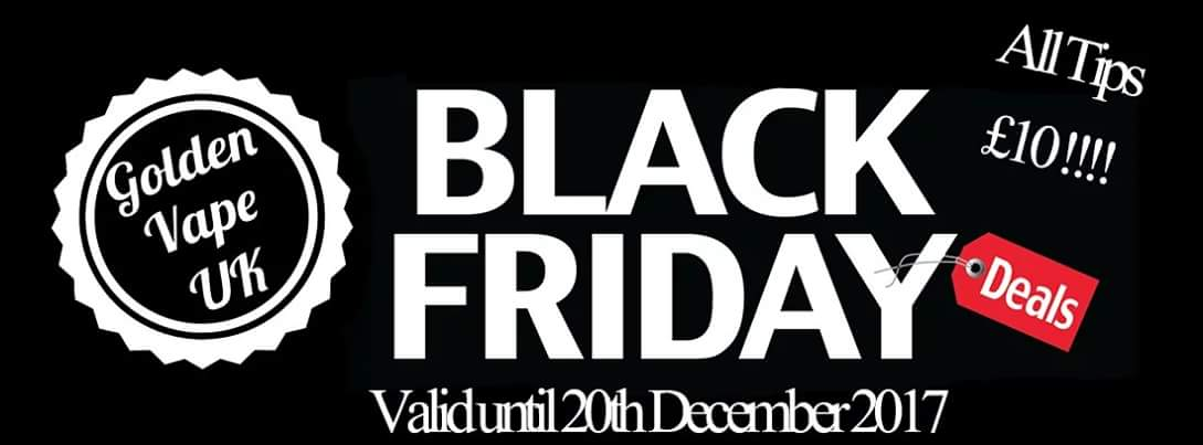 Black Friday at Golden vape uk