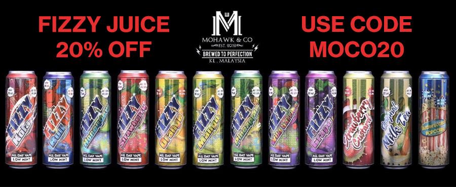 Mohawk & Co. Fizzy Series 20% off at Gourmet eLiquid