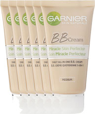 Garnier Skin Naturals BB Cream Miracle Skin Perfector All-in-1 Dagcreme Getinte Huid Voordeelverpakk 6x50ml