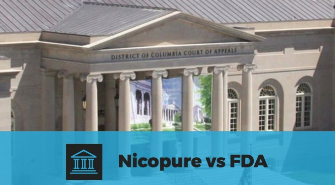Nicopure Has Filed an Appeal In The Nicopure vs FDA Lawsuit