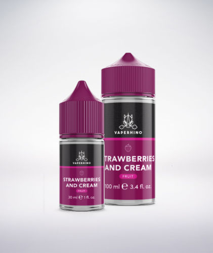 VapeRhino Strawberries and Cream eLiquid