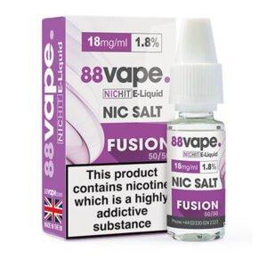 88vape Fusion Nic Salt Eliquid 10ml Bottle With Box