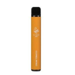 elfbar 600 cream tobacco disposable vape pod