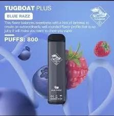 Disposable tugboat plus Blue razz