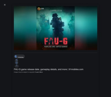 Faug Game Release Date In India