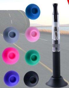 Support en silicone pour cigarette eGo de couleur bleu