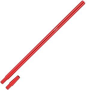 AO® Chicha Manche Aluminium anodisé XL | Manche Chicha avec Embout (Rouge)