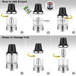 Cigarettes électroniques Kit complet 120W E Cigarette 2800mAh batterie/avec e-liquide 4x10ml / Affichage à LED haute définition avec puissance ajustable/remplissage par le haut/Sans nicotine VAPECZAR