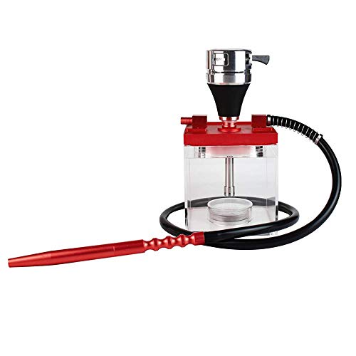 Acrylic square shisha hookah with LED light high level hookah chicha
