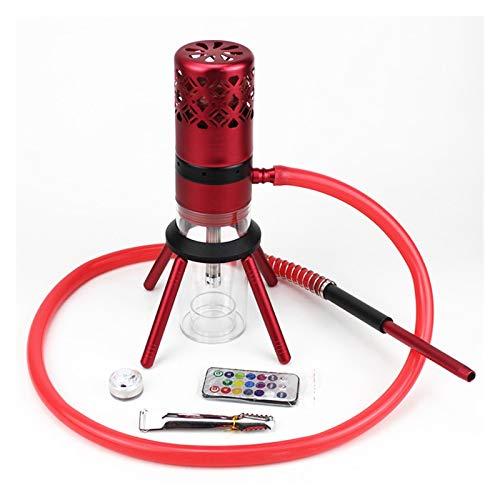 YTG Voyage Shisha Narguilé avec Quatre Pattes Narguilé Sheesha ChichWater protège-Vent Pipe Cachimbas Mini Shisha Narguilé Accessoires (Color : Red)