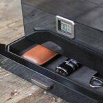 Grand humidificateur en cèdre noir Octodor avec hygromètre numérique, système d'humidification et tiroir à accessoires – Peut contenir (50-100 cigares) Par Case Elegance