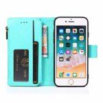 LODROC Coque iPhone 8/7/iPhone Se 2020 Coque,Housse en Cuir Premium Flip Case Portefeuille Etui avec Stand Support et Carte Slot pour Apple iPhone7/iPhone8 – LOZY0300014 Vert
