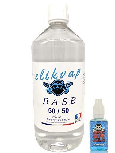 Concentre HEISENBERG + base e liquide 50/50 1L – DIY base e liquide – produit sans tabac sans nicotine. (HEISENBERG)