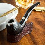 N A Pipe à Fumer du Tabac en Bois, Pipe à Fumer détachable Pipe à Cigare à la Main sculptée pour Les Femmes, Les Hommes et Tous Les Fumeurs