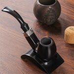 N A Pipe à Fumer du Tabac Noir, Pipe à Fumer détachable Tuyau de Cigarette à Cigare Fait à la Main sculpté pour Tous Les Amateurs de Tabac