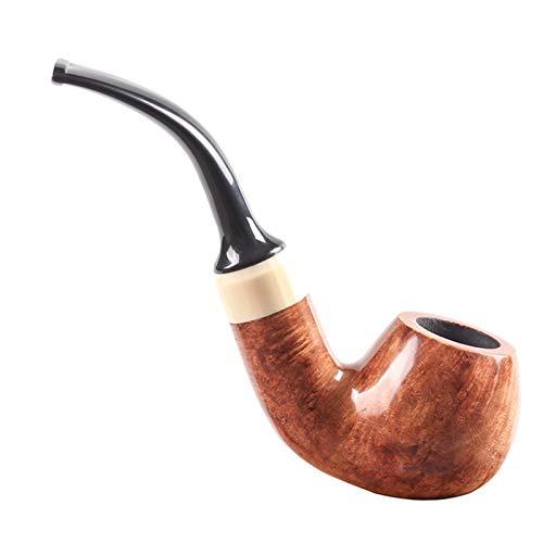 N A Pipe à Fumer du Tabac, Pipe en Bois détachable de Tabac à Fumer Pipe à Cigarette à la Main sculptée pour Les Femmes, Les Hommes et Tous Les Fumeurs