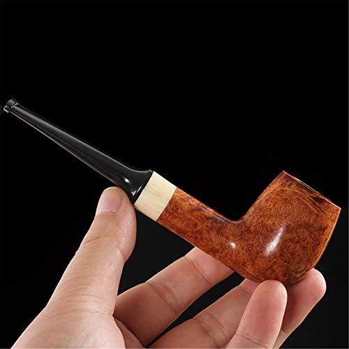 N A Pipe à Tabac Droite à l'ancienne pour Hommes, Pipe à Tabac en Bois sculptée à la Main, idéale pour Les Femmes, Tous Les Amateurs de Fumeurs