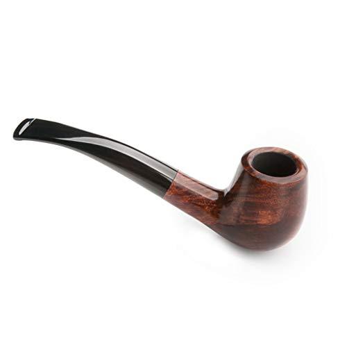LYQZ Tabac à Tabac à la Main Classique Style Bend Hommes Vintage Briar Bois Accessoires de Pipe à Fumer (Color : B)