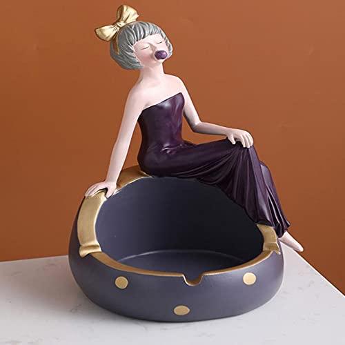 QW Fille Robe cendrier Luxe Nordique Maison personnalité Tendance créative Bureau décoration cendrier A