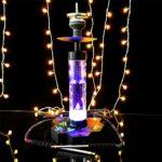 Narguilé fini Set 2 tube avec lampe arabe narguilh Bar KTV Smoke Pot Comprend des accessoires Shisha, Creative Shisha Hookah Set, avec lumière de LED multicolore