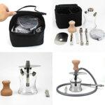 TVVT Kit complet de circuit d'eau portable pour fumer et bonghuka – Kit complet fumeur – Caprique en verre – Vase à eau – Facile à monter et à nettoyer à la maison
