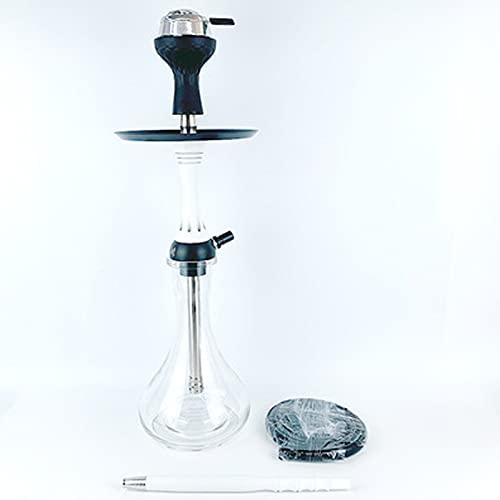 TVVT Kit pour chicha pipe – Kit de fumage pour narguilé – Avec tout le kit portable – Accessoire de bong à eau – Style luxueux – Multicolore – Robuste – Blanc adulte