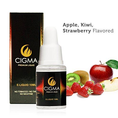 Cigma | 10ml E liquid | Apple, Kiwi, Strawberry | Premium Quality Forumla |  For E cigarette | E Shisha | Money Back Guarantee