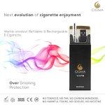 Cigma-Vape-Worlds-Slimmest-Smallest-Refillable-Rechargeable-E-Cigarette-Starter-Kit-E-Shisha-Rechargeable-battery-Refillable-Clearomizer-Vaporizer-Black-Money-Back-Guarantee-0-0