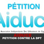 AIDUCE :  Pétition contre l'application de la DPT
