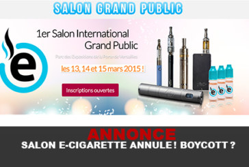 ANNOUNCEMENT: SALON E-CIGARETTE CANCELS! BOYCOTT?