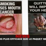 NEWS : L'e-cig plus efficace que le paquet neutre !