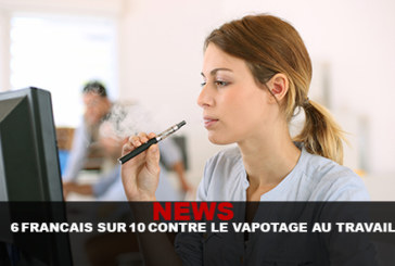 NEWS: 6 French about 10 against vaping at work!