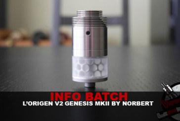 INFO BATCH : Origen Genesis v2-MkII (By Norbert)
