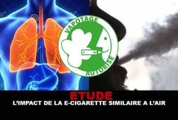 ETUDE : L'impact de la e-cig similaire à l'air sur le système respiratoire !