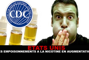USA : Empoisonnement à la nicotine en augmentation ! (CDC)